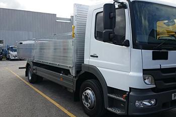 AV Bodies Commercial Vehicle Bodybuilders dropside white van