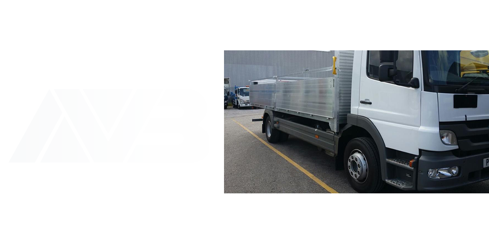 AV Bodies dropside white van