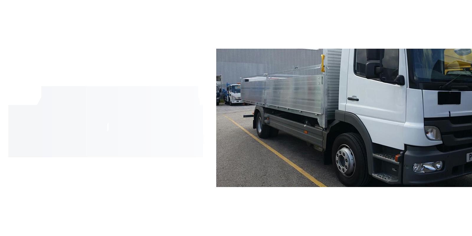 AV Bodies dropside white van