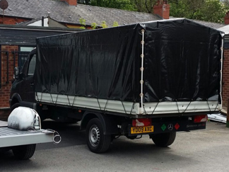 AV Bodies Commercial Vehicle Bodybuilders  Black Curtainsider Van