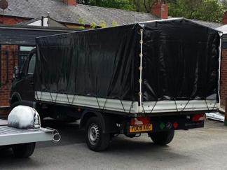 AV Bodies Commercial Vehicle Bodybuilders  Black Curtainsider Van